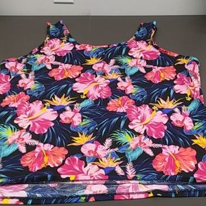 Time and Tru XXL Floral Tropical Tank Top